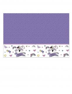 Minnie Maus und Einhorn™-Tischdecke Dekoration lila-weiss 120x180cm