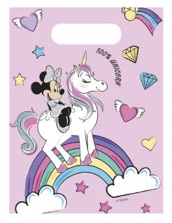 Minnie Maus™ und Einhorn Geschenktüten 6 Stück bunt 18 x 13 cm