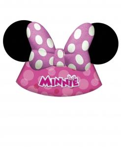 Minnie Maus™ Partyhüte 6 Stück pink-weiss-schwarz