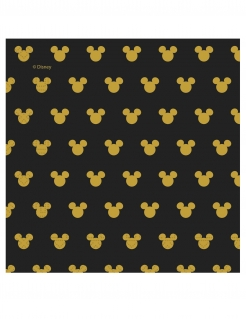 Mickey Maus™ Papierservietten 20 Stück schwarz-gold 33 x 33 cm
