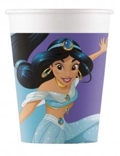 Prinzessin Jasmin™-Trinkbecher Tischdeko 8 Stück bunt 200ml