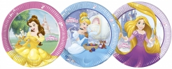 Disney™-Märchenprinzessinnen Pappteller 8 Stück bunt 23 cm