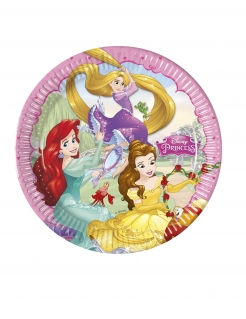 Disney™-Prinzessinnen Pappteller 8 Stück bunt 23 cm