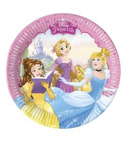 Disney™-Prinzessin kleine Pappteller für Kinder 8 Stück bunt 20 cm