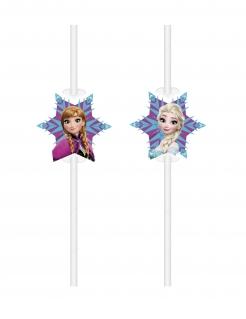 Frozen™-Strohhalme 6 Stück bunt