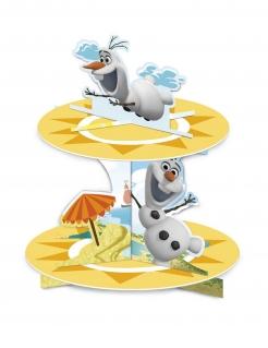 Cupcake-Präsentierteller Olaf™ Die Eiskönigin™ Deko gelb-weiss 30x23,6cm