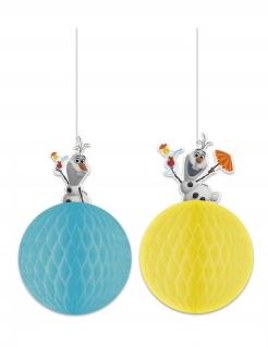 Olaf™-Hängedeko Frozen™ Deko 2 Stück blau-gelb
