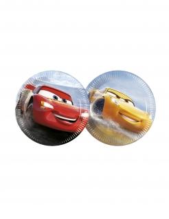 Kleine Cars 3™-Pappteller 8 Stück bunt 20 cm