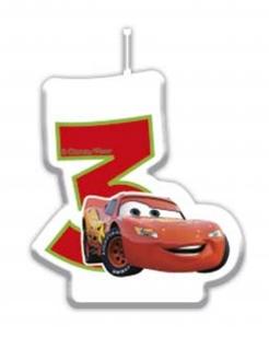 Cars™-Kerze 3.-7.Geburtstag bunt