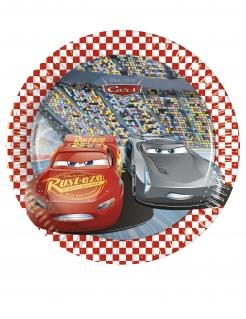 Cars™-Pappteller für Kinder 8 Stück bunt 20 cm