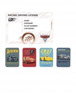 Cars 3™ Einladungskarten mit Stickern 4 Stück bunt