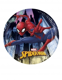 Spider-Man™ Pappteller 8 Stück bunt 20 cm