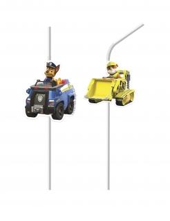 Paw Patrol™-Strohhalme Partydeko 4 Stück bunt 24 cm