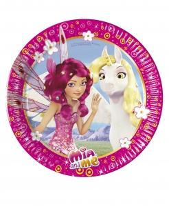 Mia & Me™-Pappteller 8 Stück bunt 20 cm
