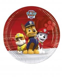 Paw Patrol™-Pappteller Ruben, Chase und Marshall Tischdeko bunt 20cm