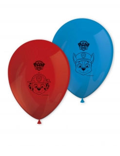 Paw Patrol™ Luftballons 8 Stück rot-blau