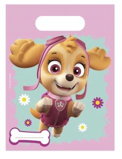 Paw Patrol™-Geschenktüten Skye und Everest Kindergeburtstag Deko 6 Stück bunt