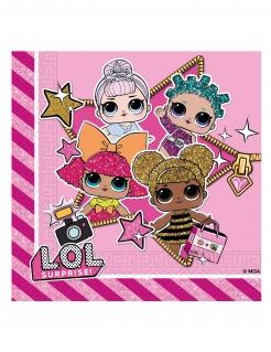 LOL Surprise™-Servietten Geburtstagsdeko 20 Stück pink 33x33cm