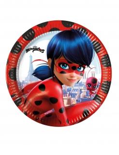 Ladybug™-Pappteller 8 Stück bunt 23 cm
