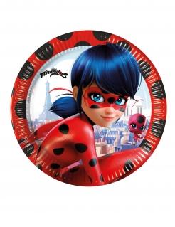 Kleine Ladybug™-Pappteller 8 Stück bunt 20 cm