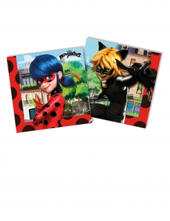 Lady Bug™ Servietten aus Papier 20 Stück bunt 33 x 33 cm