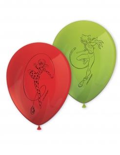Ladybug™-Ballons Miraculous™-Luftballons 8 Stück grün-rot