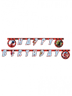 Ladybug™-Girlande Happy Birthday Miraculous™ Partydeko 2 m