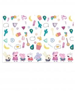 Peppa Wutz™-Tischdecke Partyzubehör Kindergeburtstag bunt 120x180 cm