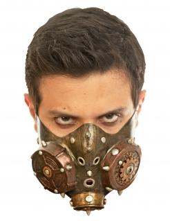 Steampunk-Maske Gasmaske gold