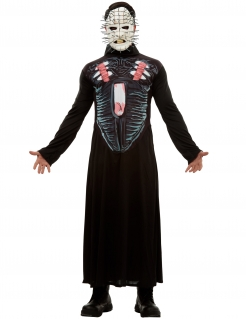 Hellraiser III™-Kostüm für Herren Pinhead Halloweenkostüm schwarz
