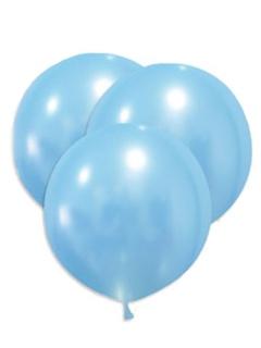 Große Latex Luftballons 5 Stück hellblau 47cm