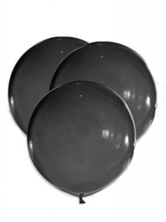 Luftballons Dekoration 5 Stück schwarz 47cm