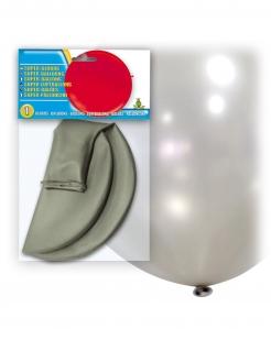 Riesen-Luftballon Dekoration silber 80cm
