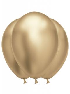 Grosse Latex-Luftballons edle Partydeko 6 Stück gold 31-39cm