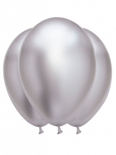 Luftballons Dekoration 6 Stück silber 31x39cm