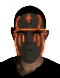 LED-Maske Halloween-Maske schwarz
