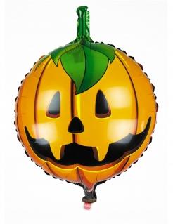 Niedlicher Kürbis-Ballon Halloween-Deko für Kinder orange 45cm