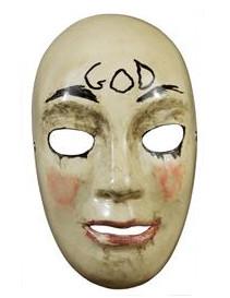 The Purge™-Maske deluxe GOD Halloween-Maske hautfarben-schwarz