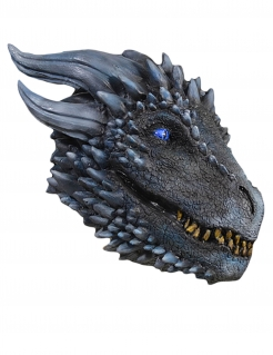 Viserion™-Drachenmaske Game of Thrones™ grau-blau