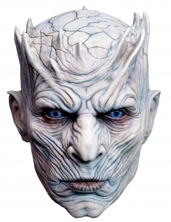 Nachtkönig™-Vollmaske für Erwachsene Game of Thrones™ beigefarben-rot-blau
