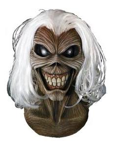Offizielle Iron Maiden™-Lizenzmaske für Erwachsen braun-schwarz-weiss
