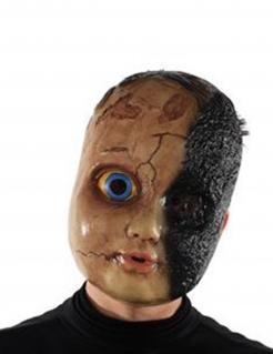 Charlie-Maske Horrorpuppe für Erwachsene braun-schwarz-blau