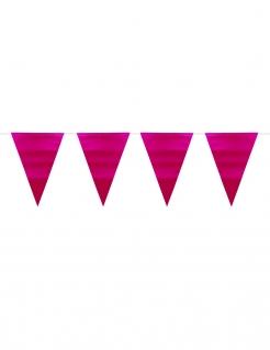 Wimpel-Girlande Partydeko metallic pink 6 m