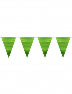Wimpel-Girlande Partydeko metallic grün 6 m