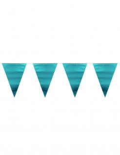 Party-Girlande metallisch blau 6 m
