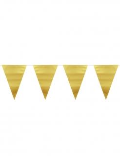 Wimpel-Girlande Partydeko gold 6 m
