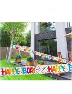 Geburtstags-Banner Happy Bday Geburtstag-Deko bunt 15 m