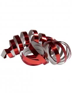 Glänzende Party-Luftschlangen 2 Stück rot jeweils 4m