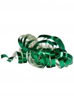 Glänzende Party-Luftschlangen 2 Stück grün jeweils 4m