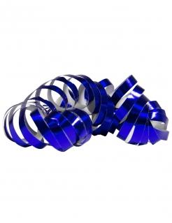 Glänzende Party-Luftschlangen 2 Stück blau jeweils 4m